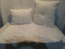 NEW Kohl's Lydia Ruched White 2 Pillows+Sham Set+USED Lydia Comforter 4pc Total