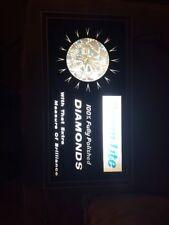 "RARE Prism-Lite 100% Fully Polished Diamonds - ""Spinning Diamond"" Sign WORKS"