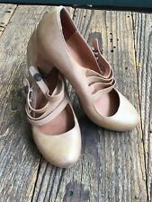 Jeffrey Campbell, Tan Leather, Four Strap, Vintage Inspired Pumps, FREE SHIPPING