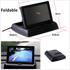 """Foldable Mini 4.3"""" TFT LCD Color Monitor For Car Reverse Rearview VCR DVD Camera"""