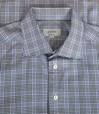 Eton Contemporary Men's Cotton Long Sleeve Dress Shirt 17.5-36 Multicolor Check