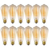 12 Pack Edison Antique Filament Light Bulb 40W/60W Incandescent TearDrop Lamp