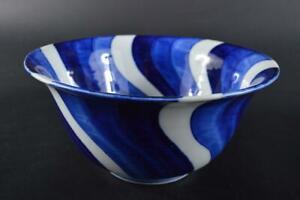 #2948: Japanese Old Imari-ware Blue&White Shonzui Kashiki DESSERT BOWL/dish