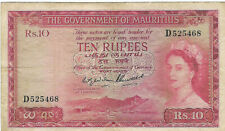 More details for mauritius - government of mauritius1954 issue 10 rupees