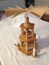 Weihnachtspyramide,echt Erzgebirge,33 cm hoch,3 Kerzenhalter