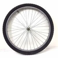 "26"" Front Gray Bicycle Wheel with 1.95"""" Tire - Mountain Bike #P89"