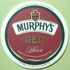 MURPHY'S RED BEER, MURPHY'S STOUT 4 inch COASTER, Mat, IRELAND, 2006 issue