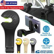 Universal 2 in 1 Car Seat Headrest Hook Purse Bag Organizer Hanger Phone Holder