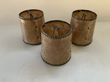 Three Small Mica Clip On Chandelier Lamp Shades