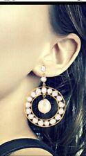 Handmade Stylish Pearl Gemstone Rose Cut Polki Earring 925 Sterling Silver