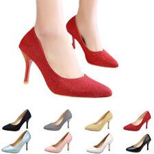 Regular Size Clubwear Patternless Heels for Women