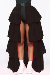 Petticoat Clubwear Rave Party Dress Half Bustle Layer Tulle Tutu Skirt Burlesque