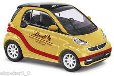 BUSCH 46205, Smart Fortwo 2012 »Lindt«, Gold, H0 Fertigmodell 1:87
