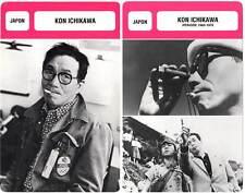 FICHE CINEMA x2 : KON ICHIKAWA -  Japon (Biographie/Filmographie)