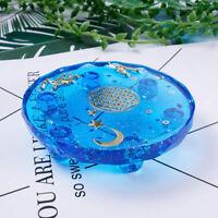 DIY Rund Silikon Schimmel Tablett Epoxid UV Harzformen Mat Gussform Base Zubehör