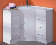 Corner bathroom vanity sinks basins for sale ebay - Corner bathroom vanities for sale ...