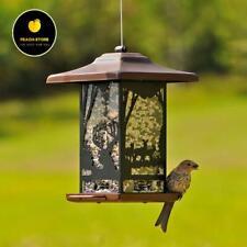 Copper Squirrel Proof Hanging Wild Bird Feeder Outdoor Garden Backyard Ornament:
