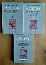 CARTAS DE SUDAMERICA Andanzas por el litoral Argentino 3Volumes In Spanish 1950