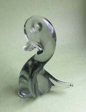 Stunning Art Glass Ornament Small Duck With Hint Of Green