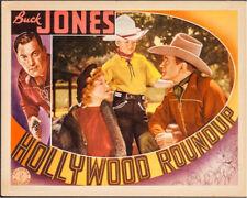 Hollywood Roundup Vintage Lobby Card Movie Poster Buck Jones 1937