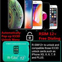 R-SIM12+New Upgrade RSIM Nano Unlock Card For iPhone XS MAX/XR/XS/8/7/6 4G iOS