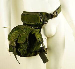 Russian Military Tactical Pack Waist Thigh Drop Leg Bag Belt Pouch Digital camo