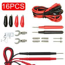 16 In 1 Multimeter Kit Digital Test Lead Probe Volt Cable Clip Meter Alligator