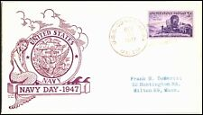 OAS-CNY 4834 NAVAL COVER USS CONSOLATION NAVY DAY 1947