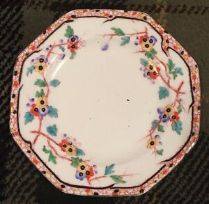 Lovely Antique Royal Doulton Pring Pattern Octagonal Plate