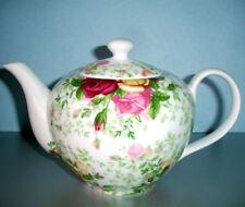Royal Albert Country Rose Chintz Teapot New