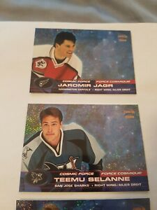 2001-02 McDonalds Pacific Cosmic Force (Lot of 4) Bure Selanne Jagr Weight