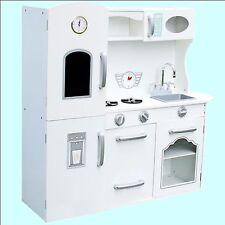 Cuisine pour Enfants Blanc Jouets Rétro Bois