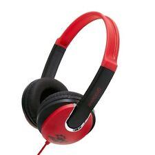 Groov-e Red/Black Kids Childrens Stereo Headphones GV590RB DJ Style Over The Ear