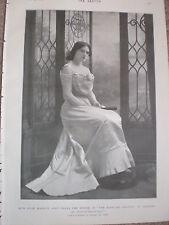 Printed photo actress Julie Mackay plays prince Sleeping Beauty Belfast 1901 W2