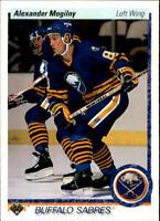1990-91 UD Buffalo Sabres Alexander Mogilny ROOKIE Hockey Card! #24 RC HOF NM-M