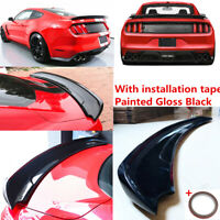 """"""" Factory GT350 Style """" Gloss Black Trunk Spoiler Fit For Ford Mustang 2015-2020"""