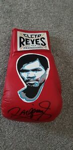 MANNY PACQUIAO HAND SIGNED GLOVE WITH COA PAINTED RARE CLETO REYES
