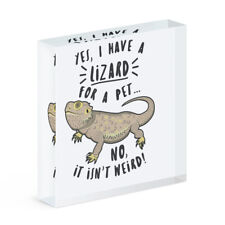 Yes I Have A Lizard For A Pet Acrylic Photo Block Frame Funny Animal