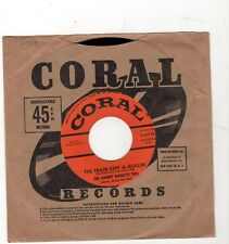 ROCKABILLY-JOHNNY BURNETTE TRIO-CORAL 61719-THE TRAIN KEPT A-ROLLIN'/HONEY HUSH