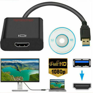 USB 3.0 to HDMI HD 1080P Video Cable Adapter Converter For PC Laptop LCD TV