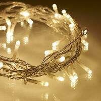 40 Warm White LED Battery Operated String Fairy Lights Wedding Party Decorations