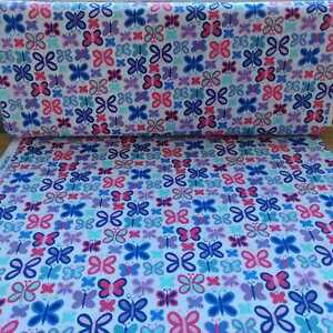 Pink and Blue Sweet Butterfly fabric by Michael Miller - CLEARANCE!