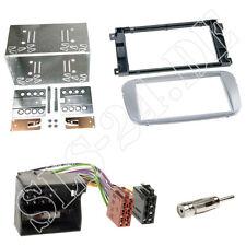 Doppel-DIN Autoradio Einbauset Rahmen ISO Adapter Blende Ford Focus Mondeo silbe