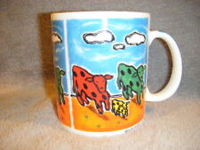 "CHALEUR "" WONDERFUL WORLD"" COWS MUG CUP SHINDO"