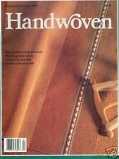 Handwoven magazine sept/oct 1991: recycled weaving, purse, blanket, jacket +