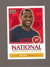 The National Sports Collectors Convention UD 2011 LeBron James  card # Vip-4