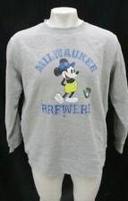 Milwaukee Brewers MLB Fanatics Mickey Mouse Men's Pullover Sweatshirt - Flawed