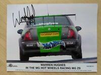 Warren Hughes Hand Signed Autograph Promo Card Photo BTCC RAC Original MG ZS
