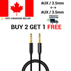 3.5 mm Nylon Braided  Stereo Auxiliary Aux Cable 1M 2M 3 Audio Jack Male to Male