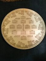 "1957 Calendar Year Collector Plate Birthday Anniversary 22 KT Gold 10"""